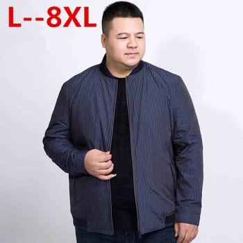 10XL 8XL 6XL 5XL 4XL Jacket Men 2018 Spring New Fashion Thin Coats Bomber Loose Fit Plus Size Outerwear Plus Size Brand Clothing