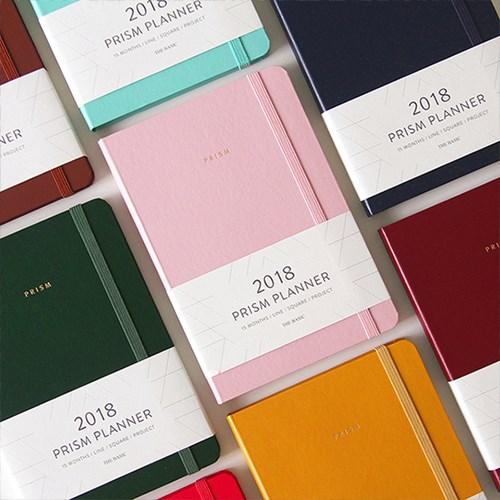 Creative Business Fashion Pure Color Band Journal 2018 Prism Planner 208P Monthly Agenda Free Shipping floral flamingo theme creative 2018 weekly planner band journal notebook 13 9 19 4cm korean fashion scheduler 192p free shipping