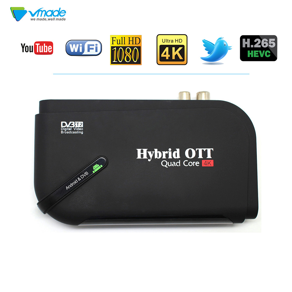 Android 7.1 TV Box & DVB T2 Terrestrial TV Receiver 1GB 8GB Amlogic S905D H.265 MPEG-4 Support 2.4G 5G wireless WIFI Set Top Box