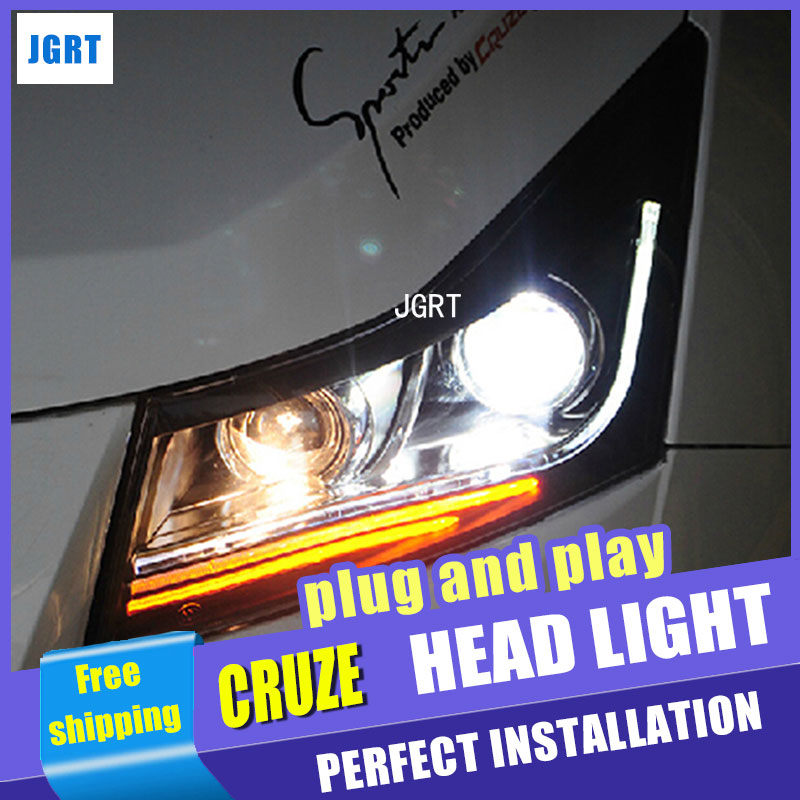 Auto Lighting Style LED Head Lamp for Chevrolet Cruze led headlight assembly 2009-2014 signal tube led H7 with hid kit 2pcs. rockeybright 1set all in one n1 h7 led headlight fog head lamp kit with 2pcs h7 led adapter for the new jetta for the new bora