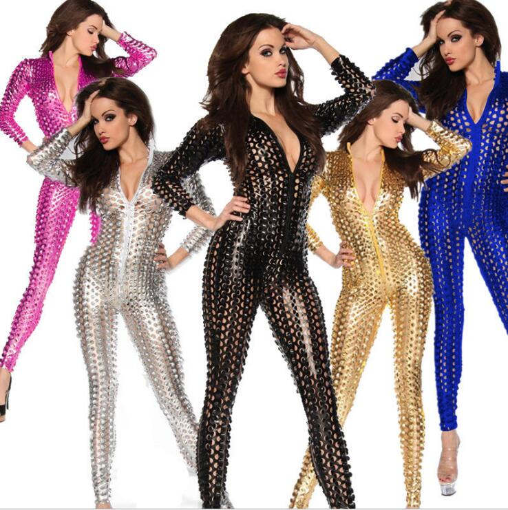New Women Dj Dance Wear Sexy Hole Jazz Ds Hip-hop Stage Performance Dance Costume Fish Scale Perspective Club Bodysuit