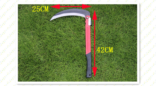 Agricultural Sickle Thicker section Folding sickle Cutting grass knife Agricultural sickle