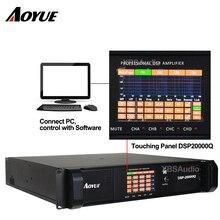 2018 newest DSP professional power amplifier 4 channel amplifier 5000 watt digital amplifier  for line array system