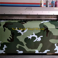 Jungle Large Camouflage Wrap Roll Bubble Free For JEEP SUV TRUCK