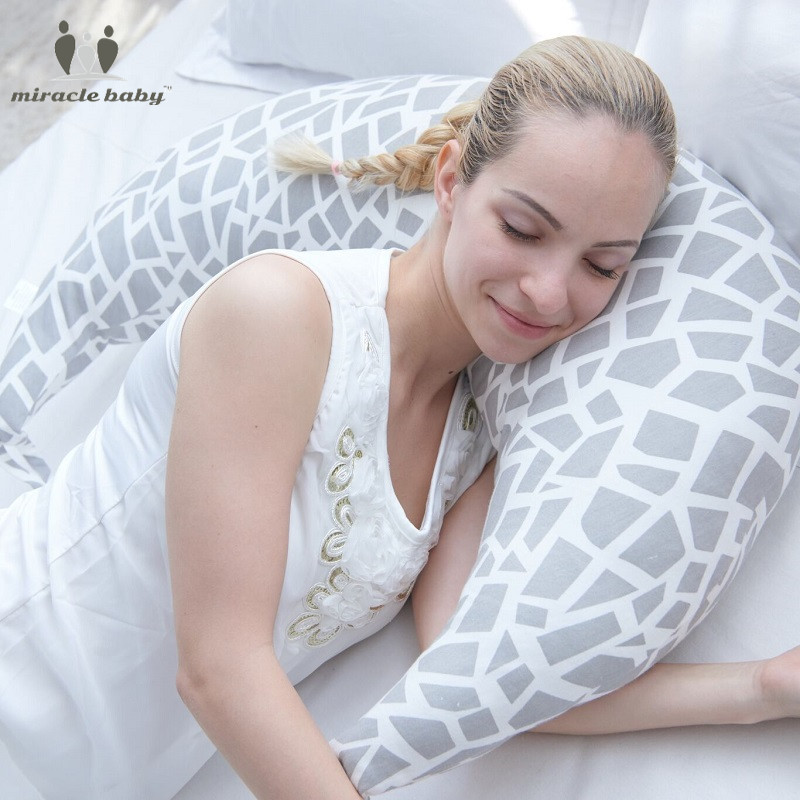 Miracle Baby Breastfeeding Pillow Multifunction Infant Moon-shaped Pillow Protect Mummy Waist Support Cushion Nursing pillow Big