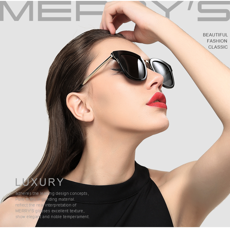 157f3ad819 MERRY S Women Classic Cat Eye Polarized Sunglasses Fashion Sun ...