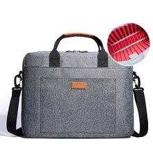 KALIDI 17.3 Inch Laptop Shoulder Bag Notebook Briefcase Messenger Business Bag for Dell Alienware / Macbook / Lenovo / HP Grey