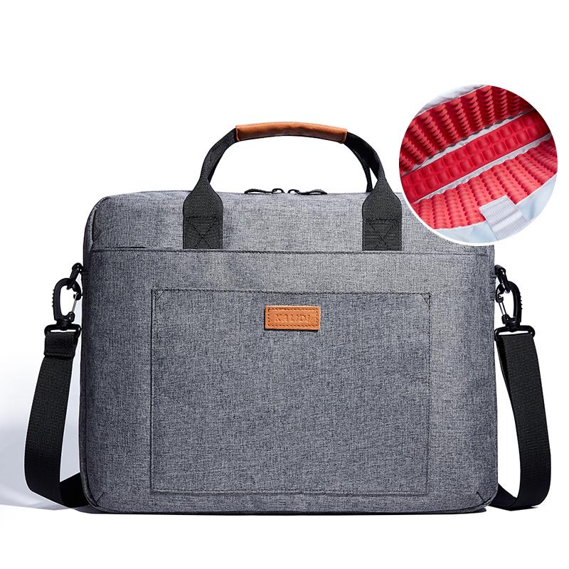 Prix pour Kalidi 17.3 pouce portable épaule ordinateur portable sac porte-documents d'affaires de messager sac pour dell alienware/macbook/lenovo/hp gris