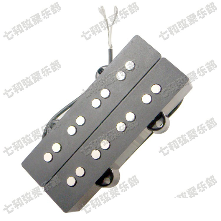 1 pcs black bass guitar humbucker double coil 4 string pickups for electric bass in guitar parts. Black Bedroom Furniture Sets. Home Design Ideas