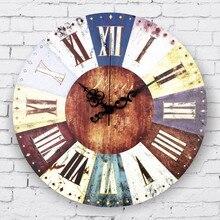 Großhandel vintage wohnkultur große wanduhr römischen ziffern gefrorene wohnzimmer dekoration wanduhr geschenk orologi da parete
