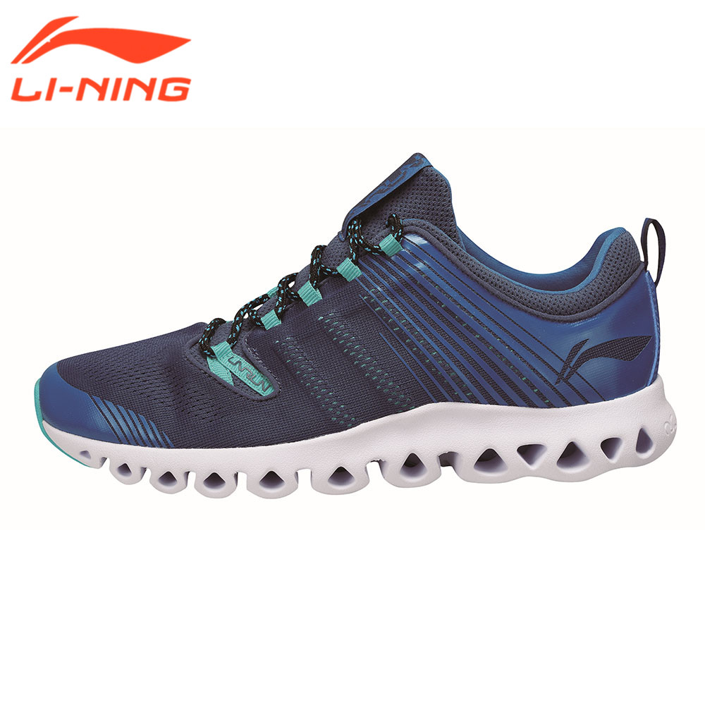 ФОТО 2017 Li-Ning Brand Original Running Shoes Men Sneaker Cushion Breathable Design Male Sport Sneakers Muddy Blue ARHM009 LiNing