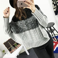2016 Autumn Winter Womens Elegant Twist Cable Knit Poncho Cape Shawls Ladies High Collar Turtleneck Batwing Knit Sweater Cloak