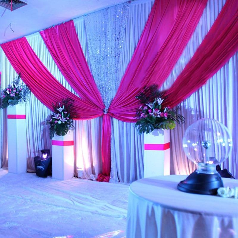 3 м х 6 м ширина свадебное фон с гирлянды события и вечерние ткань фиолетовый свадебный фон шторы в том числе средний блесток