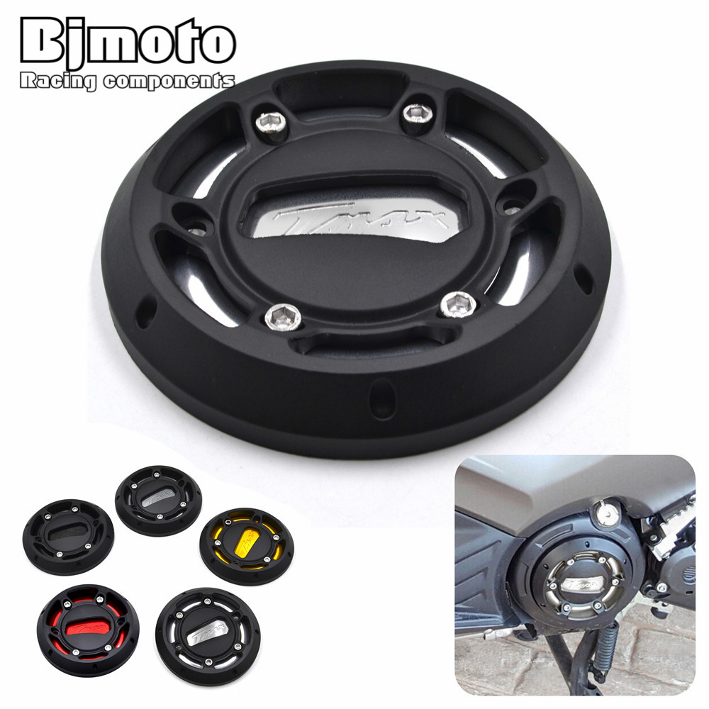 BJMOTO CNC T Max Motorcycle Engine Stator Protective Cover Protector For Yamaha T-max 530 2012-2016 TMAX 500 2008-2011 motorcycle cnc magnetic engine oil filler cap moto bike engine oil cap for xjr fjr 1300 fzr 1000 tmax 530 500 tmax 530 tmax 500