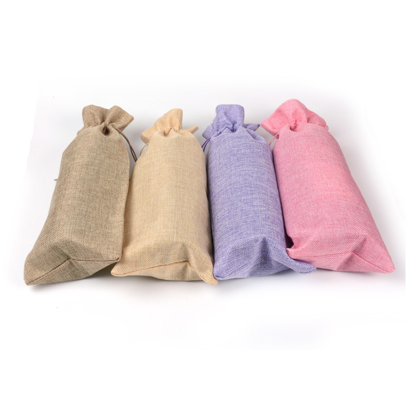 100pcs lotParty Supplies Hessian Rustic Jute Burlap Wine Bottle Cover Bag For Wedding Party Event Birthday With Drawstring Pouch in Gift Bags Wrapping Supplies from Home Garden