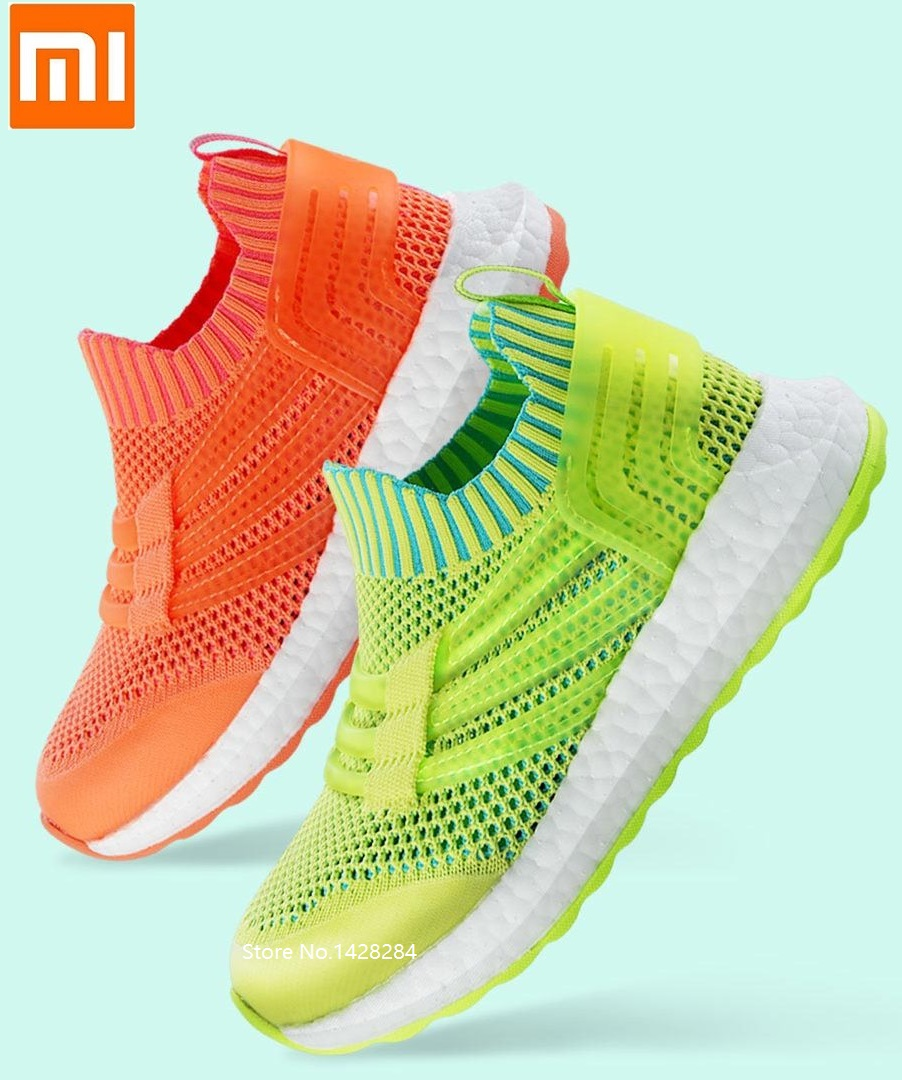 Xiaomi Fashion children's mesh sneakers Dry breathable Slow shock Child Summer lightweight casual shoes