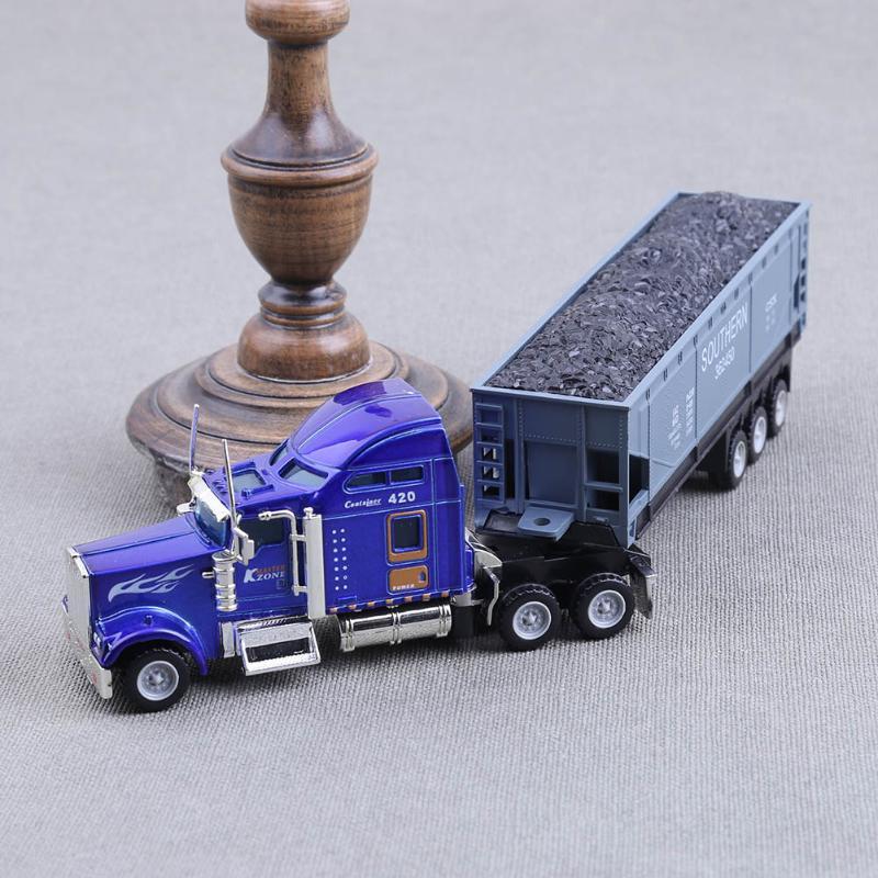 1:65 American Truck Container Truck Vehicle Simulation Model Car Toys for Children HotWheels vespa oyuncak diecast