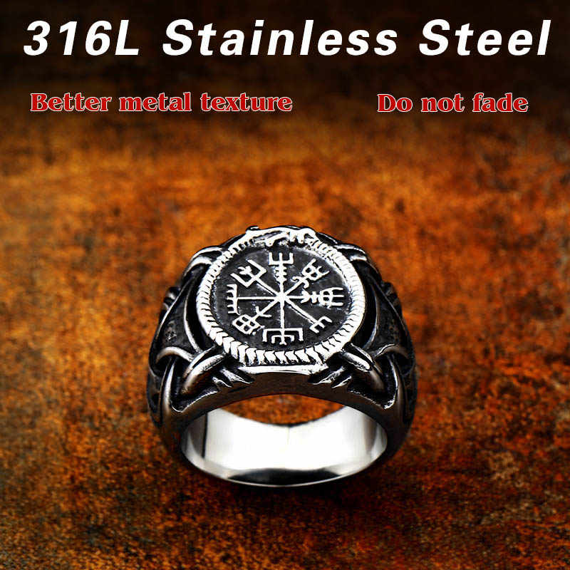 BEIER 316L Stainless Steel  New Desgin Viking Amulet Rune Men Ring Europe Fashion Jewelry Gift  Dropshipping