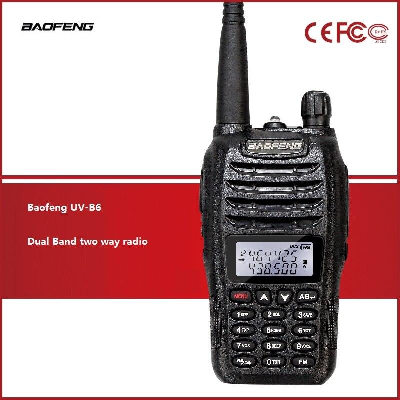 Baofeng Uv-b6 Police Walkie Talkie Fm Transceiver For Hunting Radioham Radio Hf Transceiver Two Way Radiohandheld Hand Bf B6 Profit Small