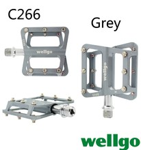 Wellgo pedal C266 Free shipping Bicycle parts for road bikes alloy ultralight pedals