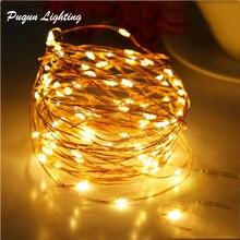 Микро медный провод светодиодный светильник на батарейках гирлянда Сказочный светильник Рождественский светодиодный светильник s luces светодиодный декоративный светильник s 2 м 3 м 5 м 10 м