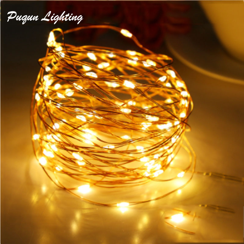 Micro Copper Wire Led -akku Light String Fairy -valo Garland-jouluvalot Led led -julisteet 2M 3M 5M 10M koristelamput