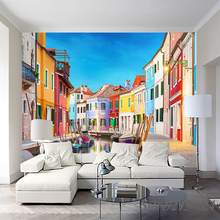 Custom 3D Wallpaper Oil Painting Town Mural Modern wall paper for home decor Wall papers oil printed for Living Room Bedroom pablo picasso woman with a book canvas painting print living room home decor modern wall art oil painting poster salon pictures