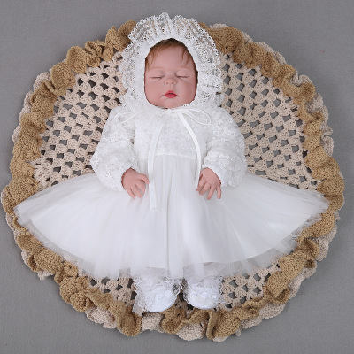 2018 Autumn and Winter Baby Girl Dress 1st Birthday Outfits Lace Christening Gown Toddler Girl Baptism Dress Party and Wedding winter baby girl christening gown infant princess dress 1st birthday outfits children kids party wear dress girl formal vestido