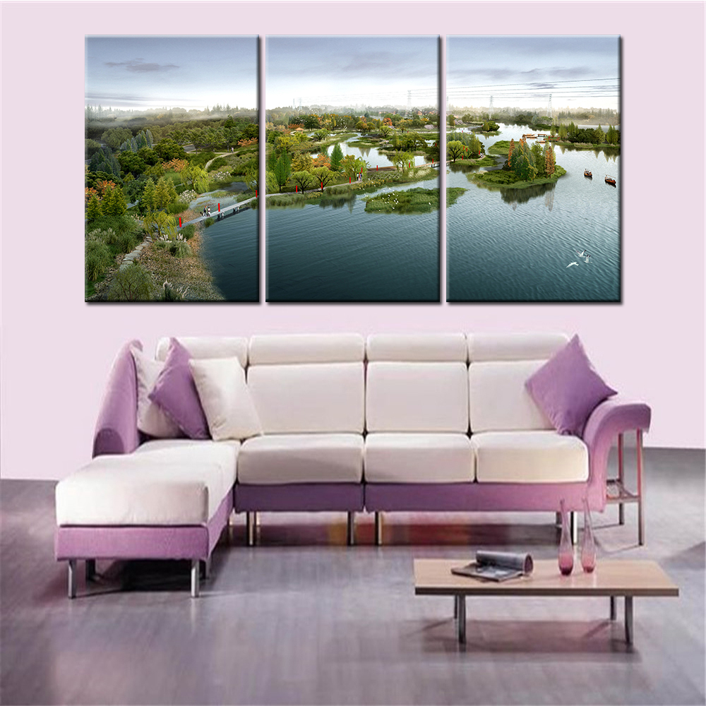 compare prices on simple modern art paintings online shopping buy 3 pieces drop shipping park landscape nordic decoration home decor wall canvas art painting for living