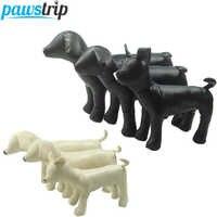 1pc couro do plutônio manequins do cão 3 tamanho posição em pé modelos do cão brinquedos animais de estimação loja exibição manequim