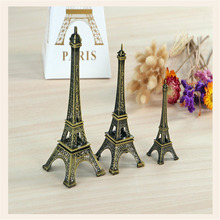 1Pc Creative Gifts 10cm Metal Art Crafts Paris Eiffel Tower Model Figurine Zinc Alloy Statue Travel Souvenirs Home Decor