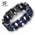 Kalen Cool Bike Chain Bracelets Men's 316 Stainless Steel Heavy Chunky Black & Blue Bicycle Chain Bracelets Male Accessory Gifts