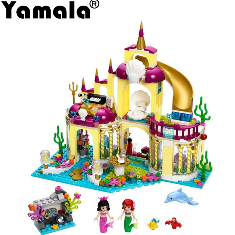 [Yamala] Princess Undersea Palace Girl Friends Building Blocks 402pcs Bricks Toys For Children Compatible With Legoingly Friends princess ponies 6 best friends for ever