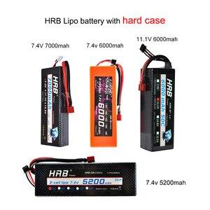 Image 5 - HRB RC Lipo batterie 2S 3S 4S 6S 11.1v 22.2v 5000mah 6000mah 3300mah 2200mah 4200mah 5200mah 7000mah mah batterie XT60 T Deans prise