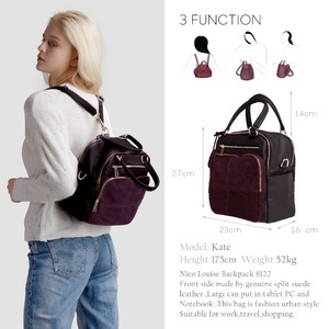 Image 2 - 2018 Brand New Women Real Suede Leather Shoulder Bag Fashion Leisure Doctor Hangbag For Female Hobe Top handle Bags Girls Sac