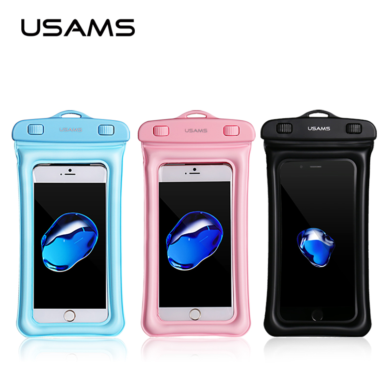new style 74d14 00707 US $4.95 38% OFF|USAMS Universal Waterproof Case Pouch bubble float bag 6  inches phone case for iPhone 7 Samsung S8 plus Xiaomi-in Phone Pouch from  ...
