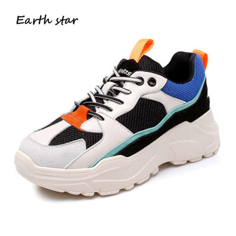 chaussure EARTH Autumn Sneaker Lady footware tied Cross Real Shoes Leather  2018 STAR White Soft Fashion ... b30a7e0ad48b