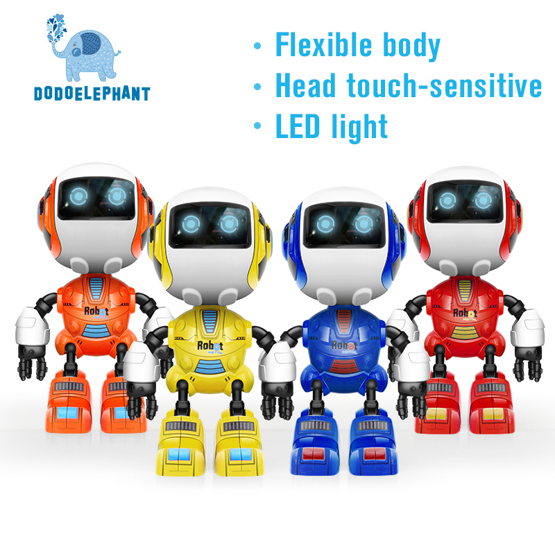 Electronic Smart cute sound Robot LED eyes Head touch