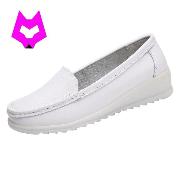 Witte Werkschoenen.Comfortabele Witte Verpleegkundige Schoenen Lichtgewicht Slip Op