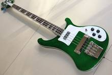 Wholesale Cnbald New Rick. 4 string 4003 electric bass guitar In flash silver matel Silver 120930