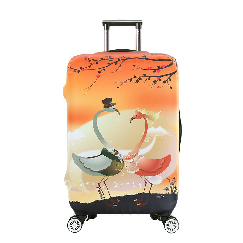 Travel Luggage Suitcase Protective Cover Elastic Trolley Apply To 18 To 30 Inch Cases Trunk Covers Flamingo Travel Accessor