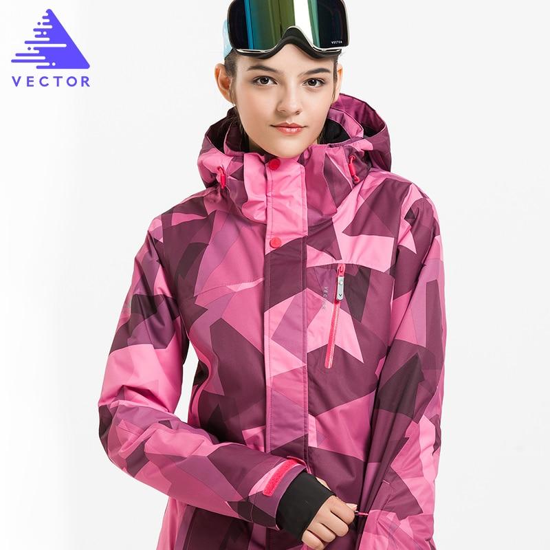 VECTOR Ski Jacket Women Windproof Waterproof Skiing ...