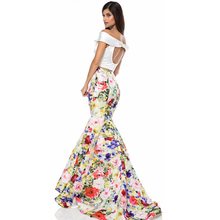 d00dd9db3b Women Boho Beach Floral Long Maxi Evening Party Summer bodycon Slim Sexy  fishtail skirt(China