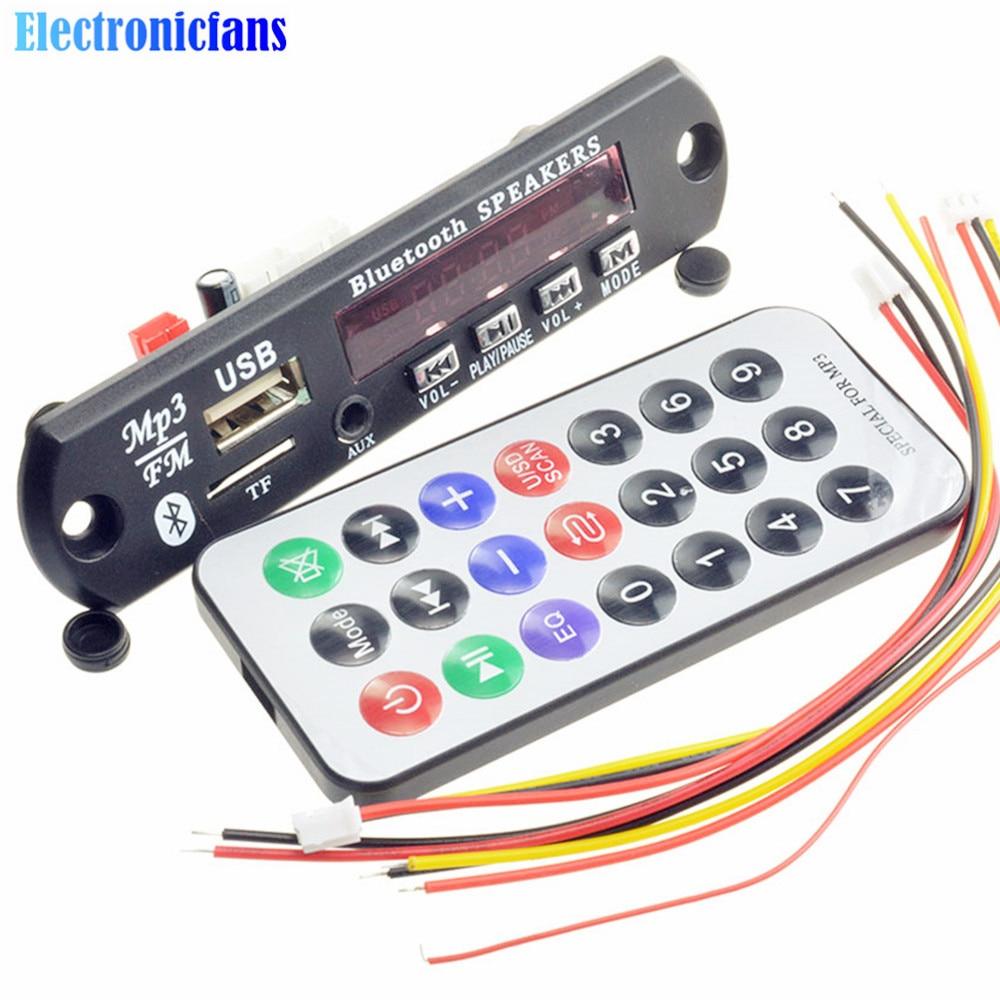 Kkmoon Car Music Mp3 Decoder Board Audio Fm Radio Module: Aliexpress.com : Buy 1Set 7 12V Car Bluetooth MP3 Decoder