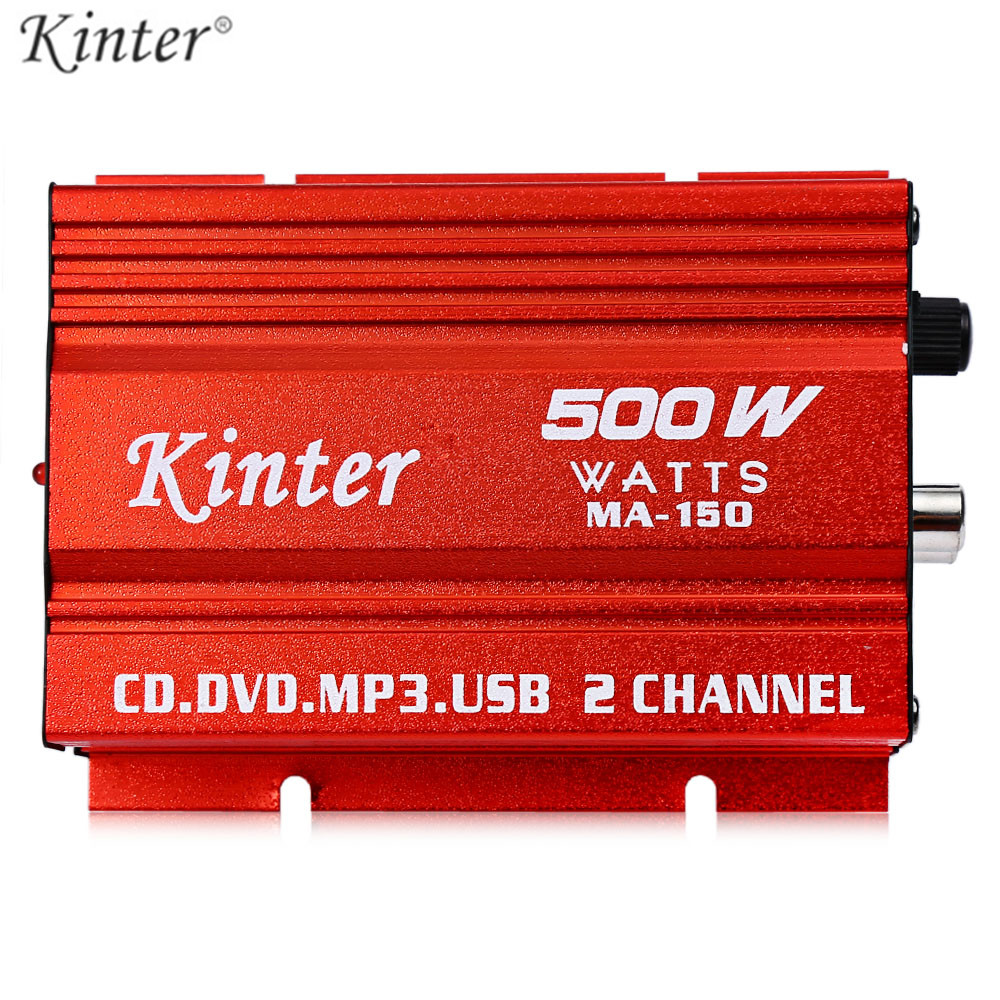 Kinter MA - 150 20W x 25V Mini Hi-Fi Stereo Digital Power Amplifier MP3 Car Audio Speaker For Car Motorcycle 20w 20w hi fi audio amplifier 12v hi fi mini auto stereo audio amplifier support cd mp3 car power amplifier for car and home