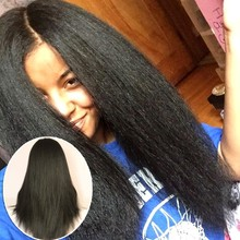 4×4 Kinky Straight Silk Base Full Lace Wig Italian Yaki Virgin Hair Brazilian Silk Top Glueless Full Lace Human Hair Wigs