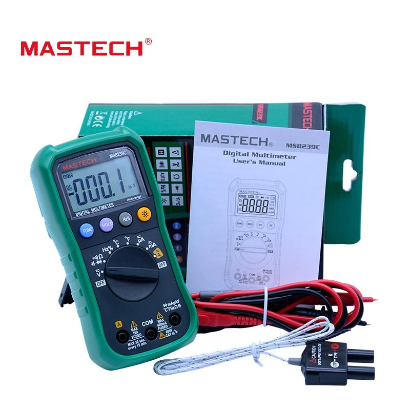 Skaitmeninis multimetras MASTECH MS8239C Kintamosios srovės - Matavimo prietaisai - Nuotrauka 6