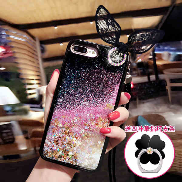 Soft Edge Fundas Liquid Glitter Sand Mobile Phone Cases For Iphone 6 6s 6 Plus 7 7 Plus Heart Sequins Dynamic Stand Diyabei