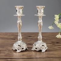 Gold Candle Holders Metal Candlestick Flower Vase Table Lead Tables Centerpiece Rack Party Candlesticks Candelabra 3DZT020
