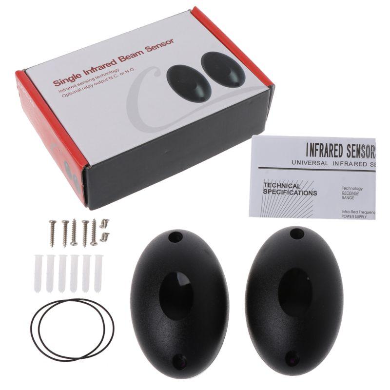 12V or 24V Active Photoelectric Single one 1 infrared Beam Sensor Barrier Detector for Gate Door Window burglar Alarm System